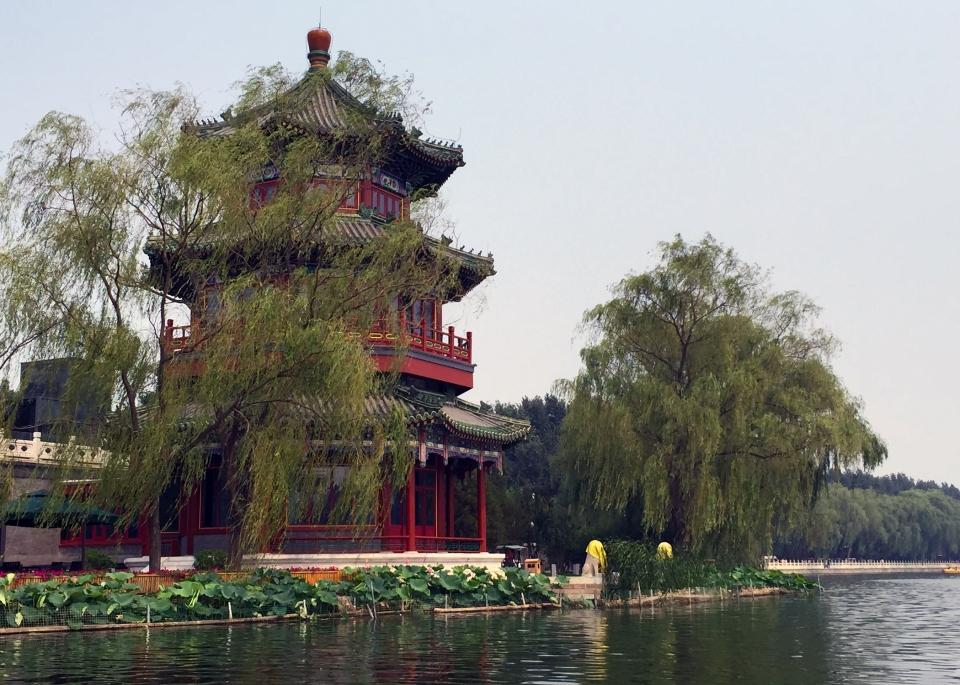 Houhai Lake Beijing Travel with Kids Leap & Hop