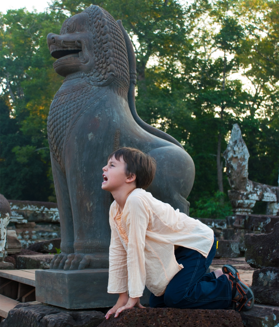 Leap & Hop Cambodia Lions Angkor Thom